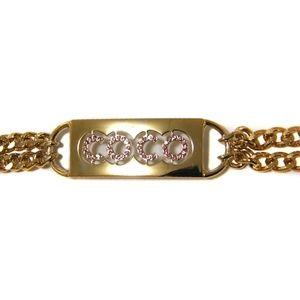 Chanel Gold chain /Pink Rhinestone belt Gorgeous